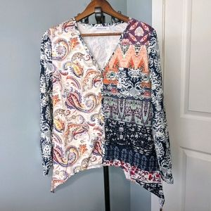 MISSLOOK ladies blouse, size M  V-neck button up